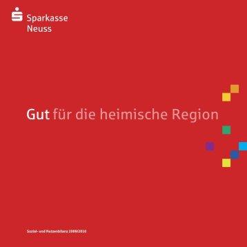 Sparkasse Neuss - Sozial- und Nutzenbilanz 2009/2010