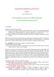 lezioni di antropologia cognitiva - Prof. Blog! - Università degli Studi ...