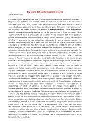 Il potere delle affermazioni interne - Circolo della scherma Nedo ...