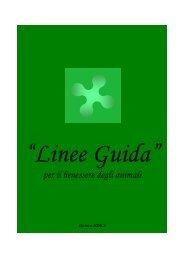 Linee guida per il benessere degli animali - Provincia di Milano