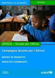 Scuole per l'Africa - Unicef