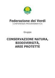 Conservazione Natura, Biodiversità, Aree Protette - Verdi