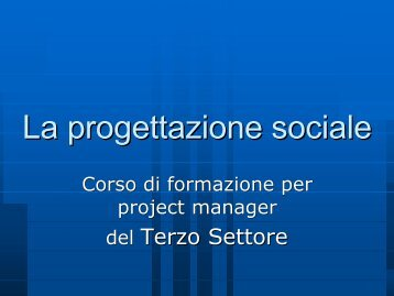 4. Proposta collaborazione con Terzo Settore per Diffusione Cultura ...