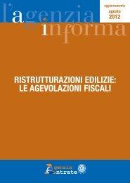 Ristrutturazioni edilizie: le agevolazioni fiscali - Agenzia delle Entrate