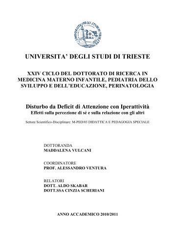 UNIVERSITA' DEGLI STUDI DI TRIESTE - OpenstarTs