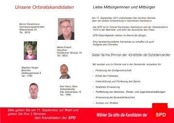 Unsere Ortsratskandidaten Wählen Sie bitte die ... - SPD Schellerten
