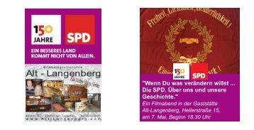 Flyer Filmabend 150 Jahre SPD - SPD Velbert