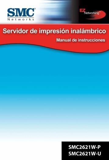Servidor de impresión inalámbrico SMC2621W-P SMC2621W-U ...