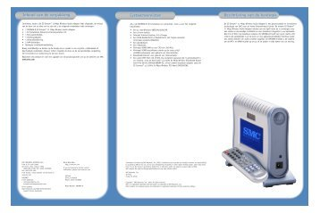 Inhoud van de verpakking Systeemvereisten Beschrijving van ... - SMC