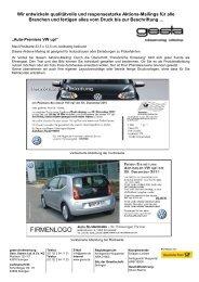 Auto-Premiere - Gesta-Direktwerbung Gebr. Stamm GmbH