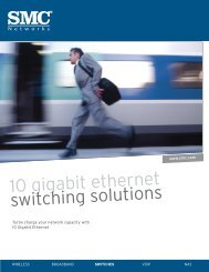 10 gigabit ethernet switching solutions - SMC
