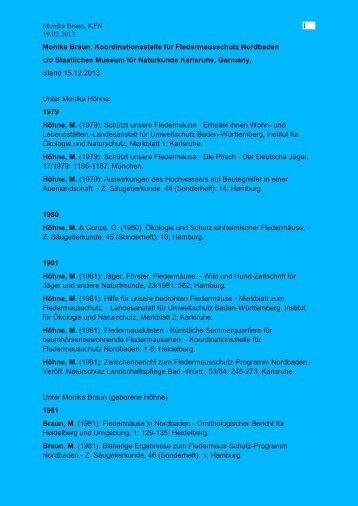 Vollständige Publikationsliste als PDF - Staatliches Museum für ...