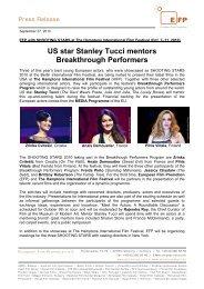 US star Stanley Tucci mentors Breakthrough Performers