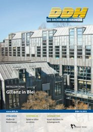 Metalldeckung - G(l)anz in Blei - LEIB, Spenglerei - Bedachungen