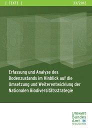 Erfassung und Analyse des Bodenzustands im Hinblick - Staatliches ...
