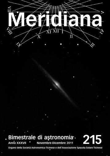 Meridiana 215.qxp:Meridiana - Società Astronomica Ticinese