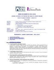 FAQ 2012-13 - Scienze Politiche