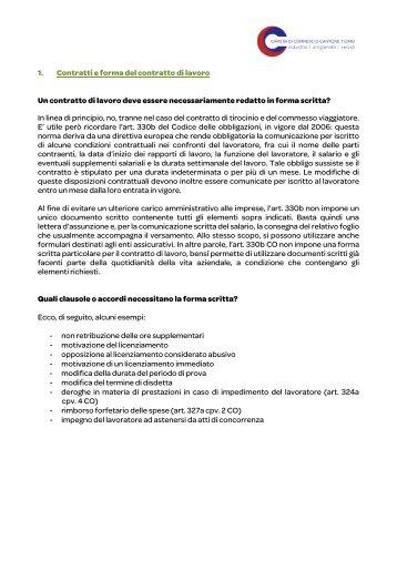MODELLO CONTRATTO DI LAVORO AGILE - Documenti Utili