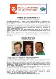 Linee Guida IBO_2012 - Società Italiana di Ortodonzia