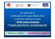 Presentazione dettagliata Certificazione CELI
