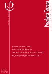 numero 1/2012 - Ordine Psicologi Toscana
