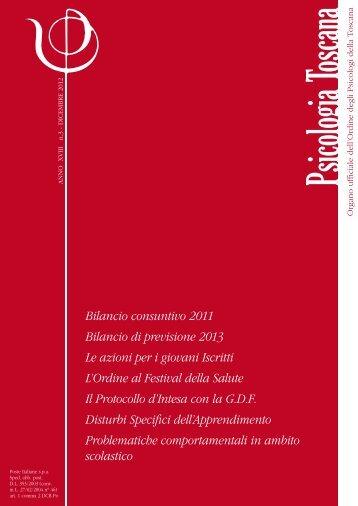 Anno 18 - dicembre 2012 - Ordine Psicologi Toscana