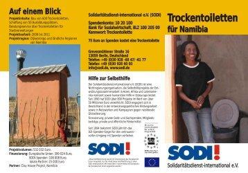 Namibia Trockentoiletten - SODI eV