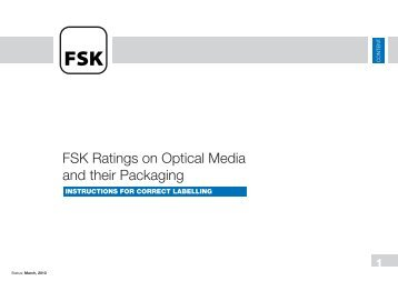 FSK Ratings on Optical Media and their Packaging - SPIO