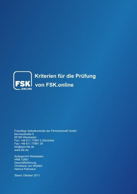 Kriterien für die Prüfung von FSK.online - SPIO