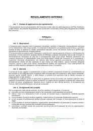 REGOLAMENTO INTERNO - Consorzioforestalecanavese.com