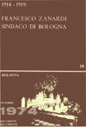 1914-1919. Francesco Zanardi Sindaco di Bologna - Comune di ...