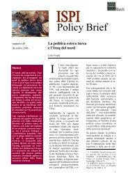 La politica estera turca e l'Iraq del - Ispi