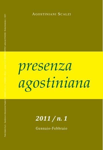 presenza agostiniana 2011 / n. 1
