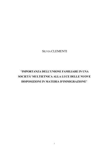 silvia clementi - Scuola Superiore dell'Amministrazione dell'Interno ...