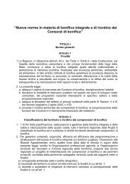"""""""Nuove norme in materia di bonifica integrale e di ... - Uil regionale"""