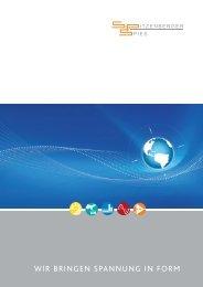 wir bringen spannung in form - Spitzenberger & Spies GmbH & Co. KG