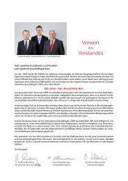 Vorwort Vorstandes - Sparkasse Memmingen-Lindau-Mindelheim