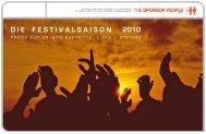 D I E    F E S T I V A L S A I S O N     2010 - The Sponsor People GmbH