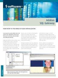 Adabas SQL Gateway - Software AG