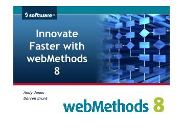Innovate Faster with webMethods 8 - Software AG