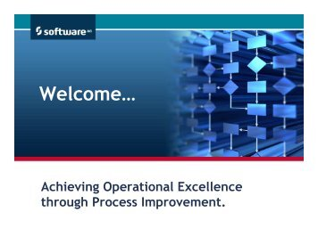 Achieving Operational Excellence through Process ... - Software AG