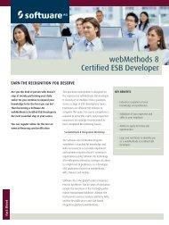 webMethods 8 Certified ESB Developer - Software AG