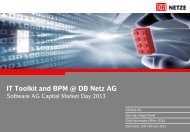 IT Toolkit and BPM @ DB Netz AG - Software AG