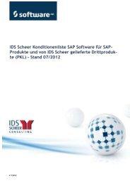 IDS Scheer Konditionenliste SAP Software für SAP ... - Software AG