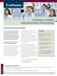CentraSite Certified SOA Governance Professional - Software AG