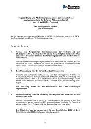 einladung zur ordentlichen hauptversammlung - Software AG