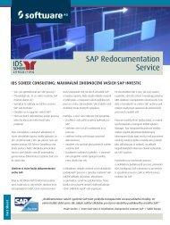 Přečtěte si více informací o službách redokumentace. - Software AG