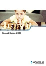 Annual Report 2002 - Software AG