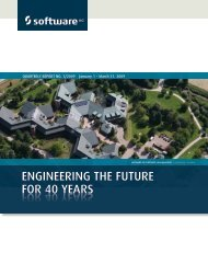 eNGiNeeriNG the future for 40 yearS - Software AG