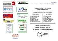 TSV Lunestedt Tischtennis +++Oberliga+++ - Sportfreunde Oesede